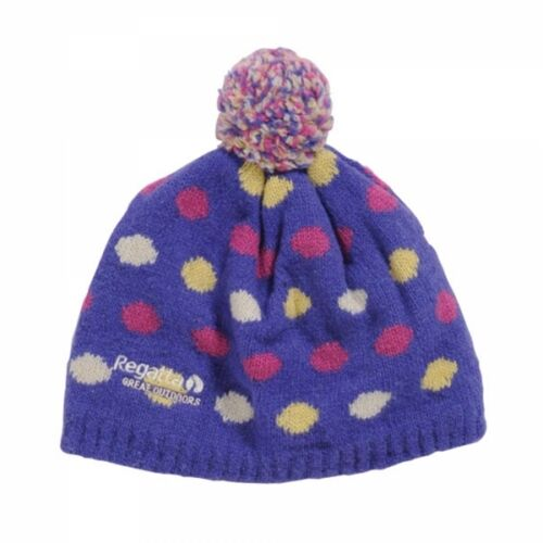 Regatta Kid/'s /'Dot2Dot/' Purple Winter and Ski Wear Beanie Hat.
