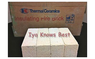 "K-23 Insulating Firebrick 9x 4.5 x 1.25/"" Fire Brick Morgan Thermal Ceramics 2300"