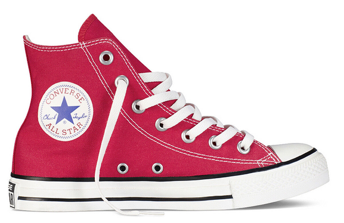 Converse All Star Hi Mens Red Canvas Trainer Size UK 6 -12