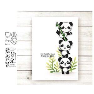 Stanzschablone-Panda-Stempel-Hochzeit-Weihnachten-Oster-Geburtstag-Karte-Album