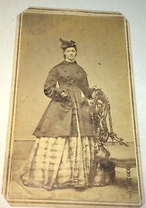 Rare-Antique-American-Civil-War-Victorian-Fashion-Beauty-Pach-Bros-NY-CDV-Photo