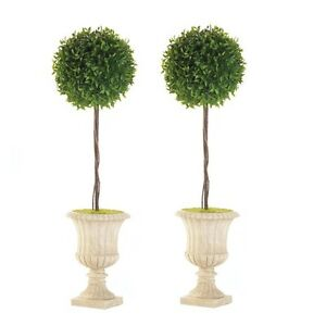 """2 lot Topiary ball urn planter 24"""" tall floral outdoor wedding table centerpiece"""