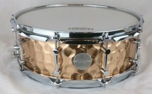 Click-Drums-5x14-Hammered-Bronze-Snare-Drum