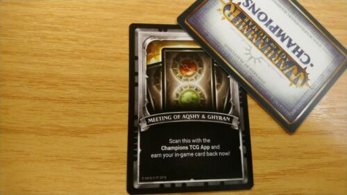 Warhammer Age Of Sigmar Champions Onslaught TCG UNSCANNED Promo Meeting Of....