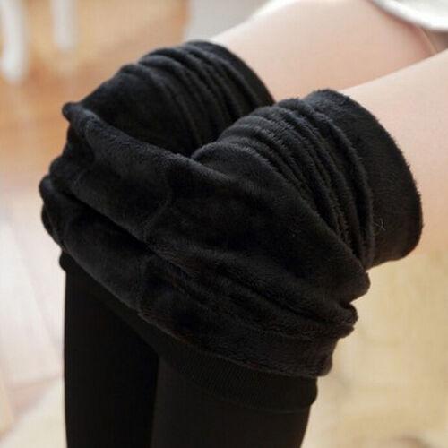 Pantalon Leggings extensible thermique chaud doublé molleton épais pour fem  BB