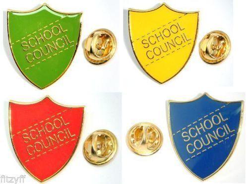 BRAND NEW SCHOOL RED VICE CAPTAIN PIN BADGE ENAMEL