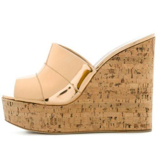 de plateforme Peep 2019 mules souliers femmes à chaussures fête de Toe compensées pour fwpxqw5Z