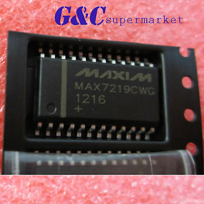 10PCS IC MAX7219CWG MAX7219  SOP24  DRIVER LED DISPLAY  NEW