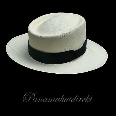 "Genuine Panama Hat from Montecristi ""Gambler"" 15 weaves - Men Woman Straw Fedora"