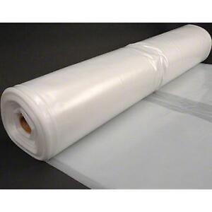 Husky 32 X 100 6 Mil Clear Plastic Sheeting Moisture