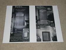 Paul Klipsch Klipschorn 1957 Ads, 2 pages, Shorthorn, Rare Info, Articles