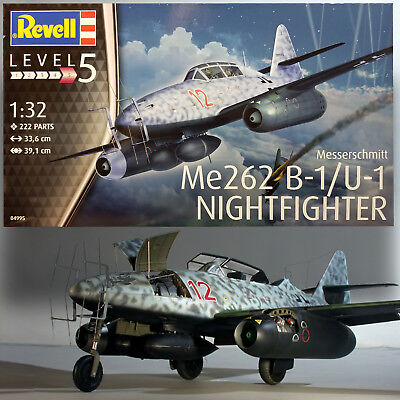 REVELL 1/32 MESSERSCHMITT ME262 B-1/U-1  WWII GERMAN NIGHTFIGHTER KIT 04995