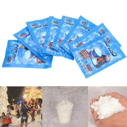 10 Packs Instant Snow Fluffy Super Absorbant Magic Prop Christmas Party Decor