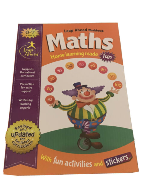 LEAP AHEAD MATHS WORKBOOK for Age 6-7 WITH ACTIVITIES & STICKERS HOME LEARNING