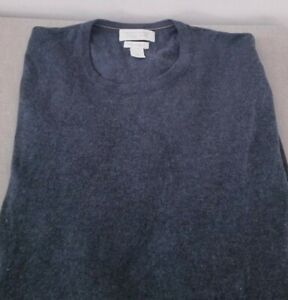 Banana-Republic-L-S-Gray-Crew-Neck-Silk-amp-Cashmere-Sweater-Sz-Medium