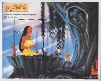 Initiative Guyana Block476 Never Hinged 1995 Walt Disney Unmounted Mint complete Issue