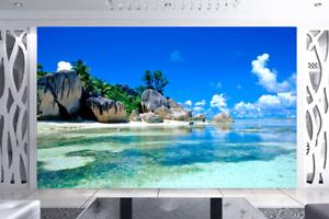 Papel Pintado Mural De Vellón Cielo De Playa De Rocas 2 Paisaje Fondo Pansize