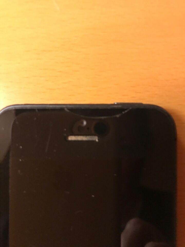 iPhone 5, 32 GB, sort
