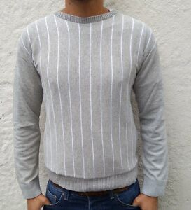 Image is loading Mens-Slim-Jumper-Crew-Sweater-Top-Casual-Pullover- 83520b1dc6c