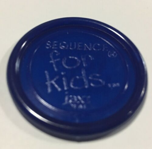 SEQUENCE FOR KIDS Replacement Game Parts Pieces Complete SET of 21 BLUE CHIPS