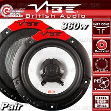 """VIBE Audio Pulse 6 6.5"""" 17cm 165mm 360w Coppia Auto Altoparlanti Porta Scaffale Coassiale Set"""