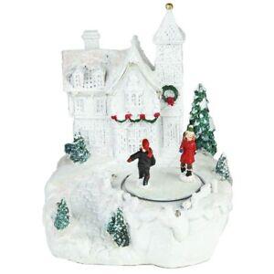 Noël Château avec patinoire Décoration de Noël  </span>