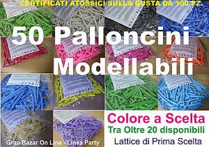 PALLONCINI-MODELLABILI-MANIPOLABILI-50-Pz-COLORE-a-SCELTA-PASTELLO-TOP-QUALITY