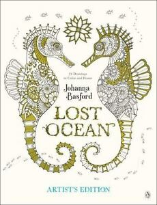 Lost Ocean Artists Edition An Inky Adventure And Coloring Book For Adults 24 Drawings To Color Frame By Johanna Basford 2017 Paperback