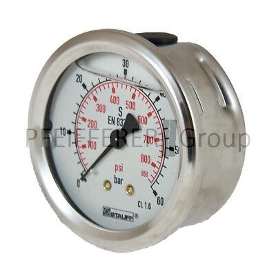 "1/4"" Air Pressure Gauges Business & Industrial Wika Manometer 60 Bar Ø63mm"