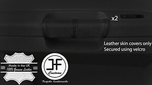 BLACK-REAL-LEATHER-2X-REAR-DOOR-HANDLE-COVERS-FOR-CHRYSLER-300C-2005-2011
