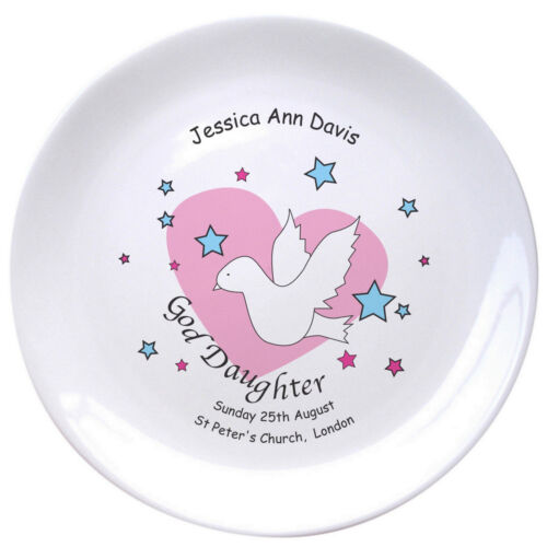 PERSONALISED Godson Goddaughter Plate For Baby Boy Girl Unisex Gift Idea PRESENT