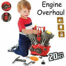 KIDS TOY 20PCS KIT MOTORCYCLE ENGINE OVERHAUL RE-BUILD MECHANIC LIGHT SOUND NEW
