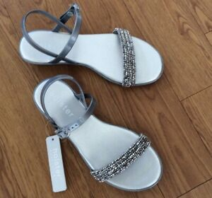 41dca239a912 Image is loading Holster-Ladies-Sandals-Hst198-Silver-New-8-Uk