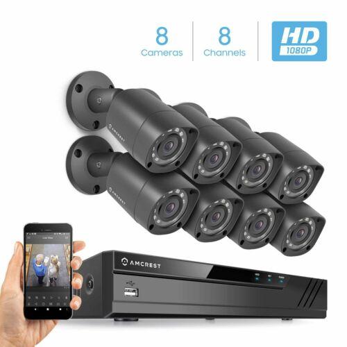 Amcrest Full-HD 1080P 8CH Video Security Camera System AMDV10818-8B-B No HDD