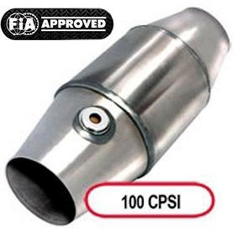 Katalysator FIA DMSB 100CPSI Zellen Metallträger 101mm OD 63,5mm Motorsport Kat
