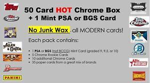 50-baseball-card-Hot-Box-with-random-PSA-or-BGS-HIT-no-junk-CHROME-Rookies