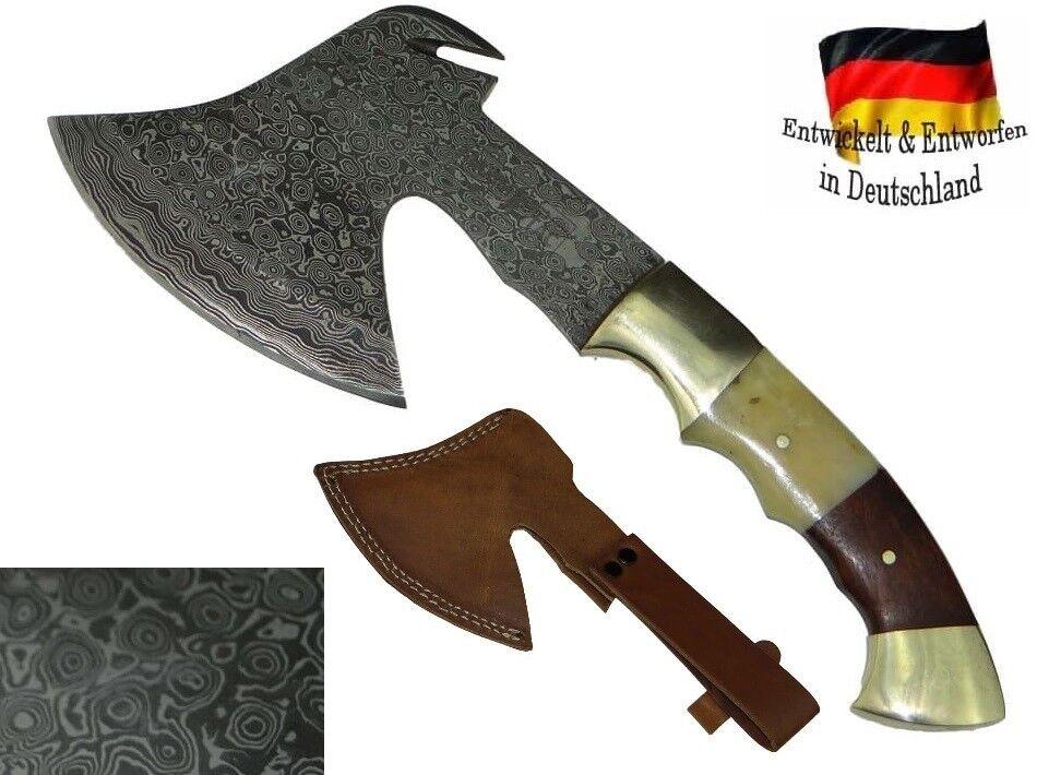 Damast Stahl Axt handgeschmiedet Mittelalter Beil Fleischerbeil Wikinger Messer Messer Wikinger 206e8f