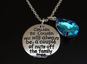 Birthday Gift For Cousin Cousin Birthday Necklace Cousin November Birthstone Necklace Gift For Cousin