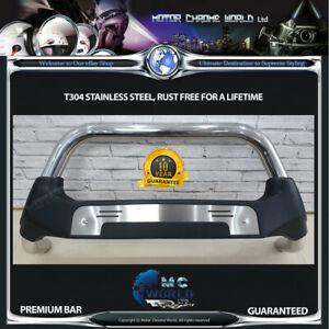 FITS-TO-CHEVROLET-CAPTIVA-BULL-BAR-CHROME-POLY-NUDGE-PUSH-GRILL-A-BAR-2012-NEW