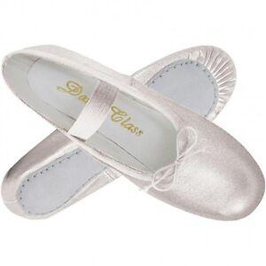 New Girls/' Silver Ballet Slipper Shoe for Dance or Weddings