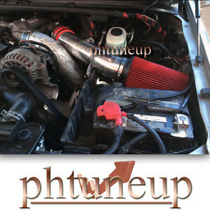 Red Air Intake Kit For 99 03 Ford Excursion F 250 F 350 Super Duty 7 3l Engine Ebay