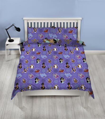 Disney Aladdin /'Sunset/' Double Duvet Reversible Bedding Set Jasmine Genie