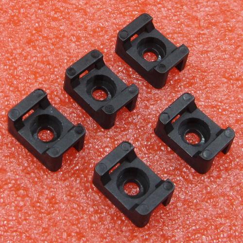 50Pcs 5mm HC-1 Nylon Cable Saddle Shape Tie Holder Mount Wire Holder
