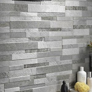 Image Is Loading Split Face Effect Porcelain Feature Wall Tiles Stone
