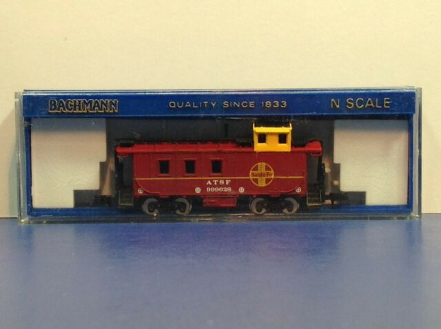 "N Scale ""ATSF"" 999628 Freight Train Caboose / Bachmann Brand"