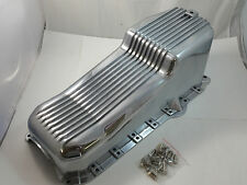 SB Chevy SBC Polished Finned Aluminum Oil Pan W/ Bolts 305 350 5.0 5.7 87-95