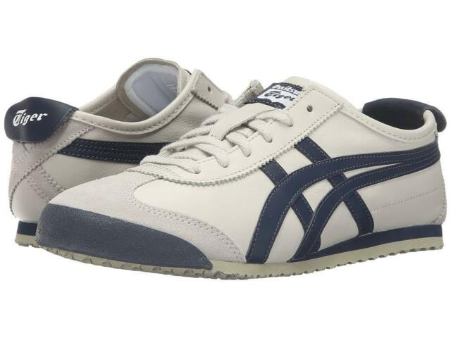 free shipping 363bc 43622 Asics Onitsuka Tiger Mexico 66 Dl408-1659 Birch Indian Ink Leather Shoes  Men Grays 10