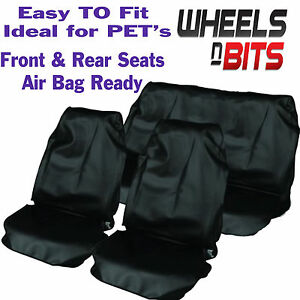 Hyundai-All-Model-Car-Seat-Cover-Waterproof-Nylon-Full-Set-Protectors-Black