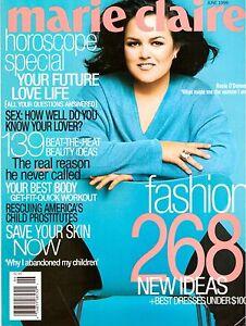 1999 Marie Claire Magazine Rosie O'Donnell Rebecca Romijn Vintage Ads 1990s