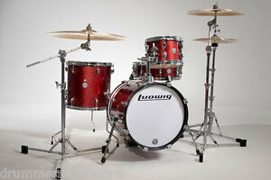ludwig breakbeat by questlove drum kit 4pc red sparkle w bag set. Black Bedroom Furniture Sets. Home Design Ideas